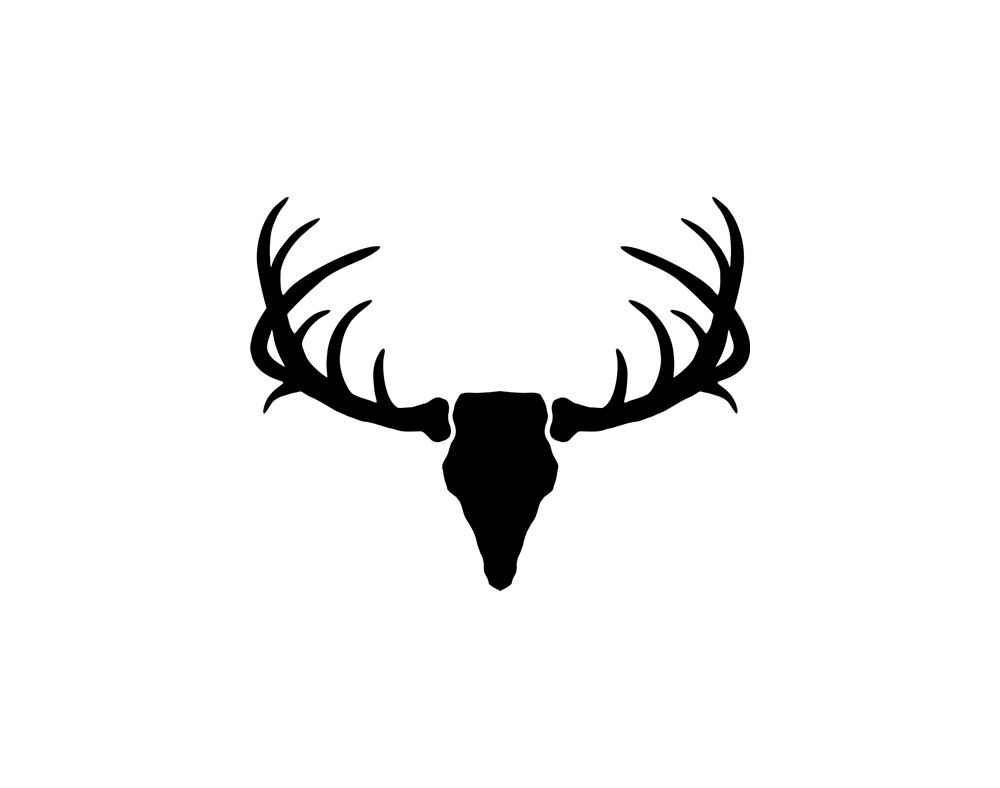 Antler clipart silhouette Clipart antlers silhouette silhouette clipart