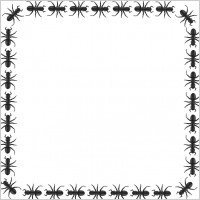 Ants clipart hard working  ant square border Free