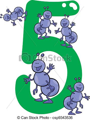 Ants clipart five Vector five Clip illustration ants