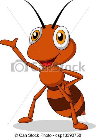 Ants clipart icon Waving of Vector cartoon Cute