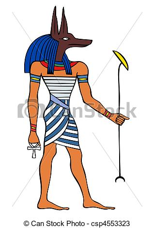 Anubis clipart  of God dog Egypt
