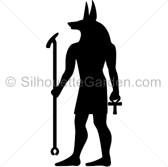 Anubis clipart Download image image Anubis silhouette