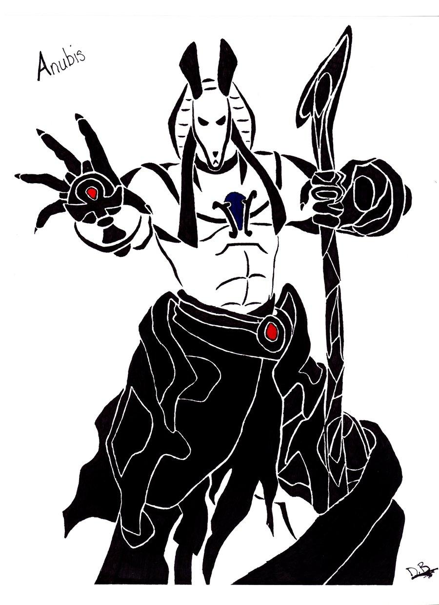 Anubis clipart tribal #11