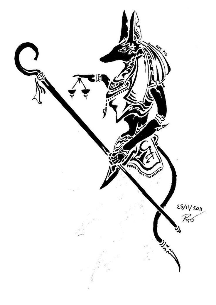 Anubis clipart tribal #9