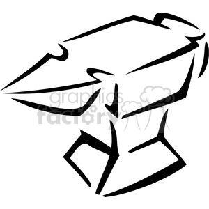 Anvil clipart black and white #15