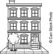 Apartment Complex clipart Building building Art vector Vector