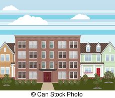 Bulding  clipart apartment complex Building Apartment building Vector