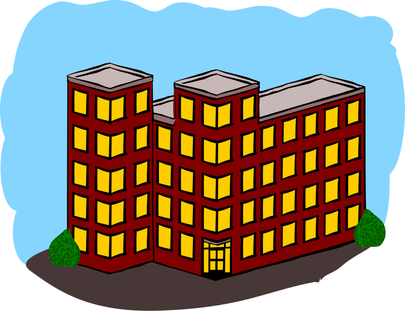 Bulding  clipart apartment complex Art Apartment Top Complex Clip