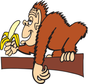 Banana clipart baby monkey Art vector SVG Downloads Banana