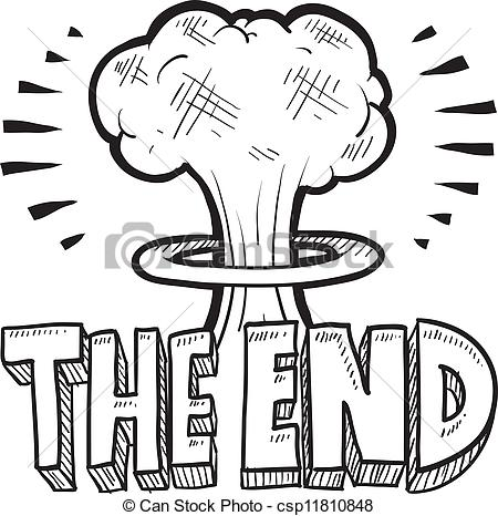 End clipart cartoon Sketch The The style The