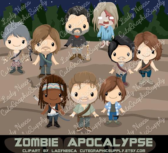 Zombie clipart zombie apocalypse Walking  Il_570xn zombie clipart