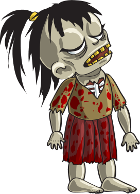 Zombie clipart red #4