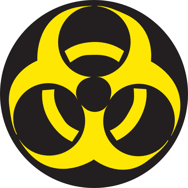 Radioactive clipart hazard sign Sticker clip vector online Fog