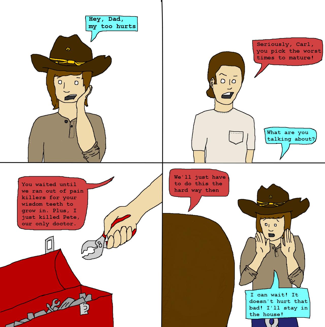 Apocalyptic clipart comic person Wisdom Zombie  Zombie Wisdom