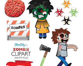 Radioactive clipart hazard sign Zombie clipart Halloween Etsy apocalypse
