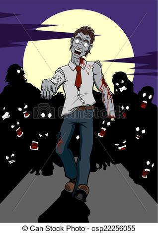 Zombie clipart zombie apocalypse Illustration of Vector Vector a