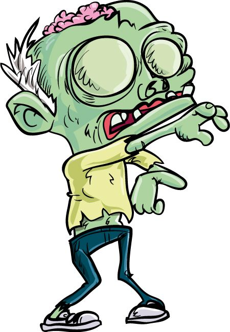 Zombie clipart cartoon character January cartoon 2014 on jeans