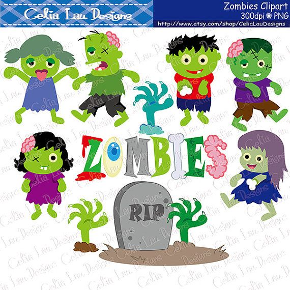 Zombie clipart border Clipart CeliaLauDesigns clipart 25+ by