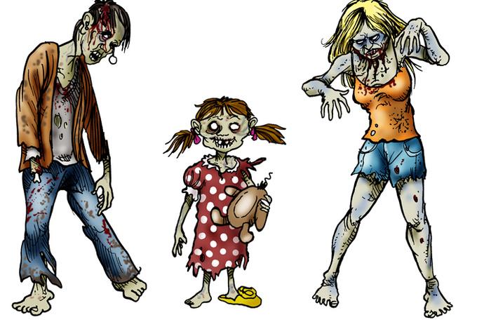 Zombie clipart zombie apocalypse Clipartix Zombie Zombie clipart kid