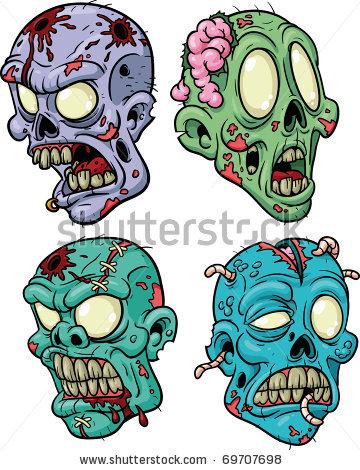 Apocalyptic clipart Cartoon stock zombie zombie