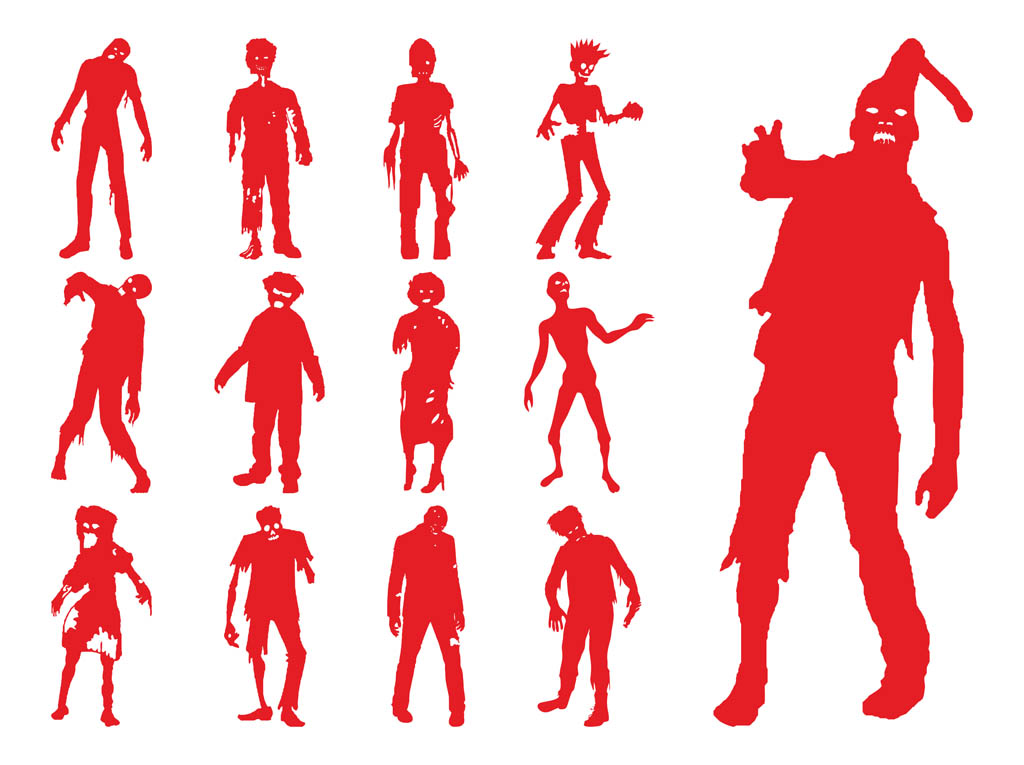 Zombie clipart red #11