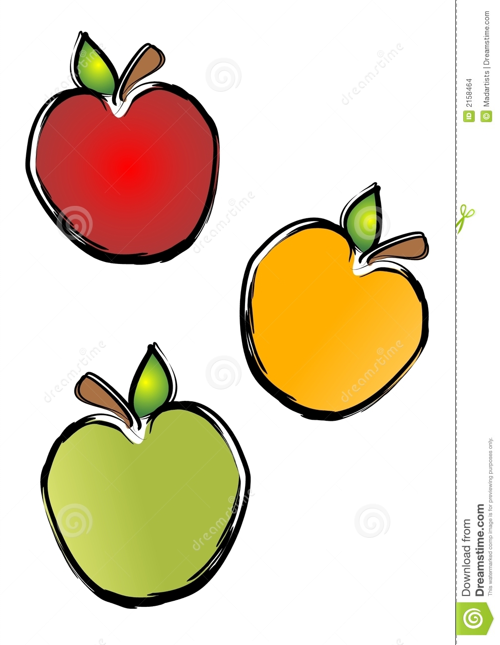 Colouful clipart apple #11