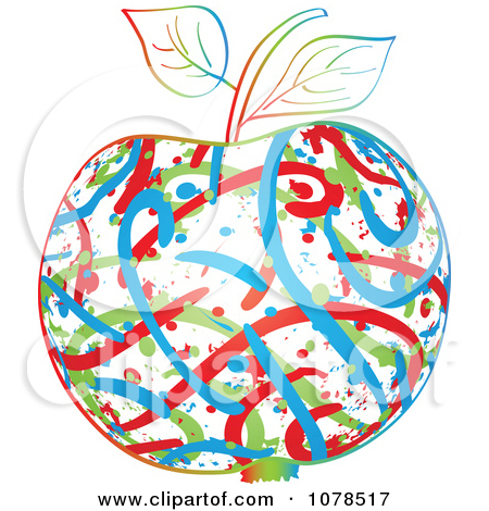 Abstract clipart apple Clipart Collection Clipart clipart Colorful