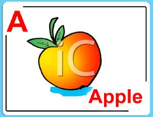 Apple clipart alphabet Clipart Free Picture Picture Card