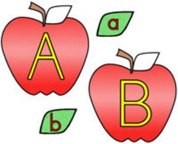 Apple clipart alphabet Best images lowercase uppercase 17