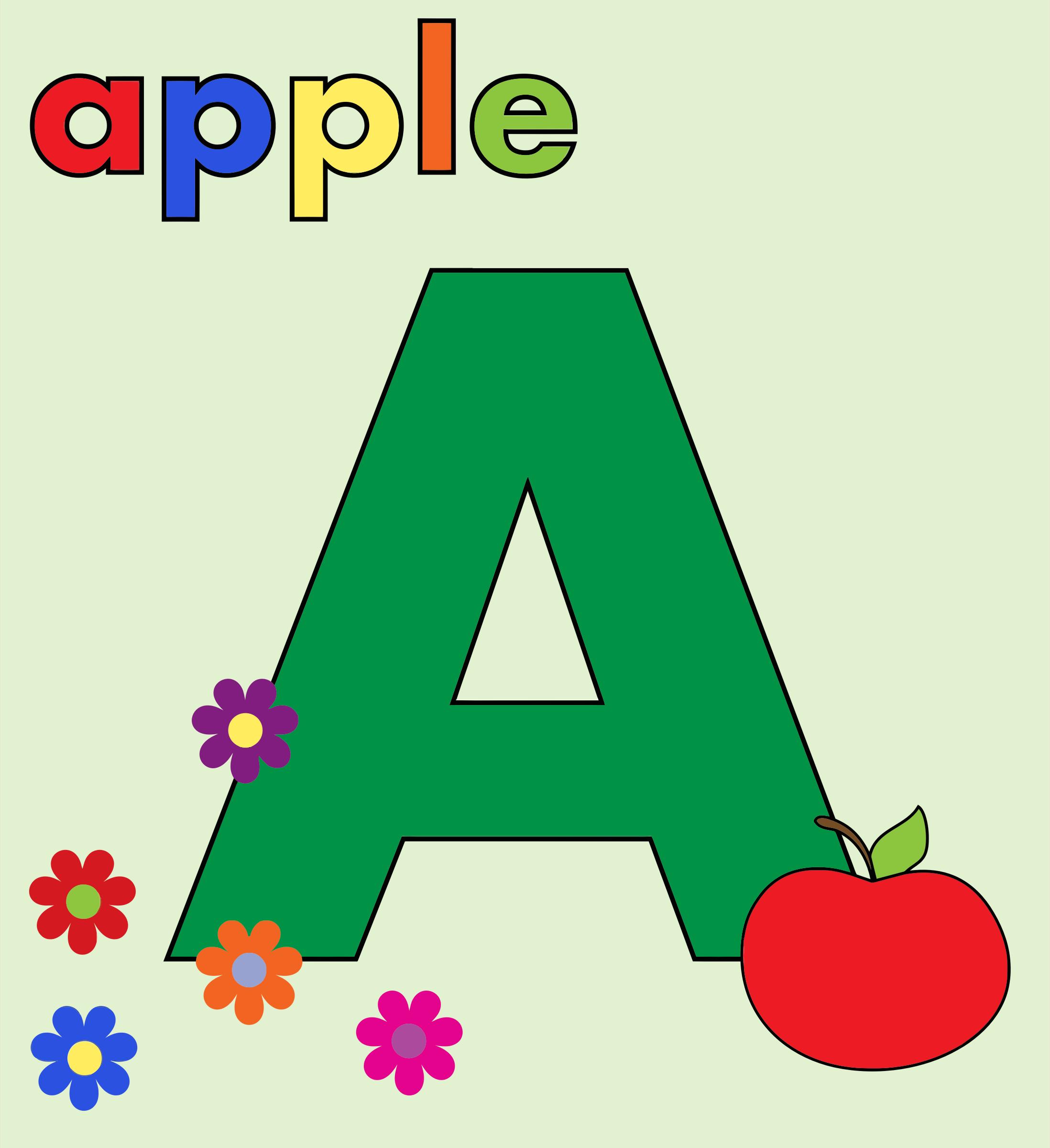 Apple clipart alphabet Alphabet Clipart A Apple A