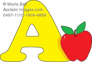 Apple clipart alphabet Letter A Apple is Image