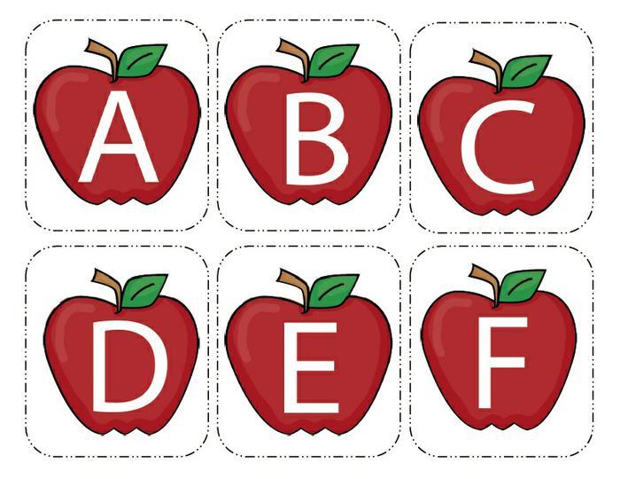 Apple clipart alphabet Cards Alphabet Apple