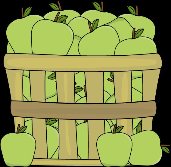 Basket clipart apple basket Green Apple Images Clip Apples