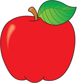 Colouful clipart apple #1