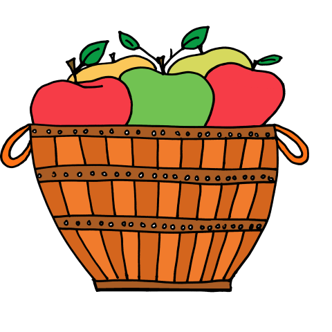 Basket clipart apple basket Basket Apple PDClipart Clip clipart