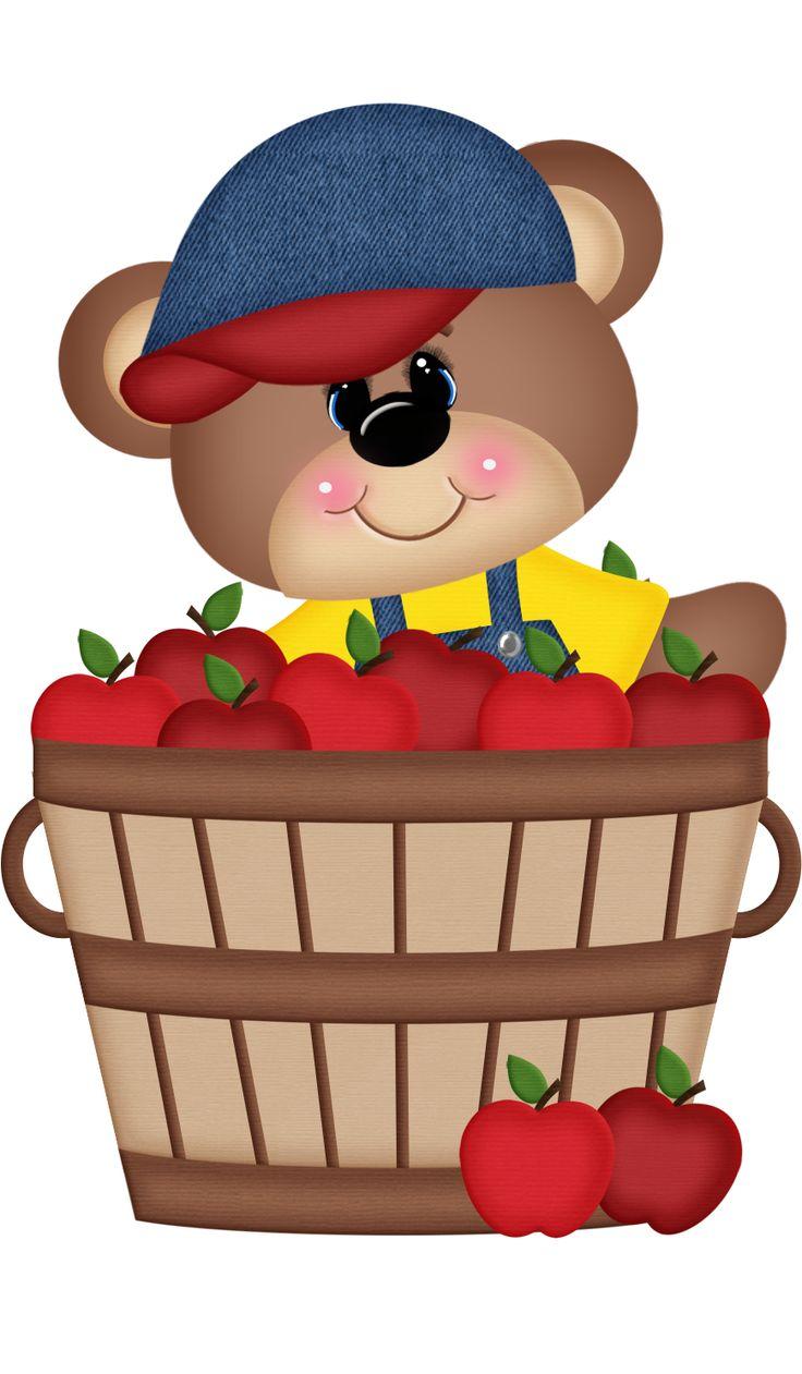 Apple clipart bear 167 on Art Clip Cute
