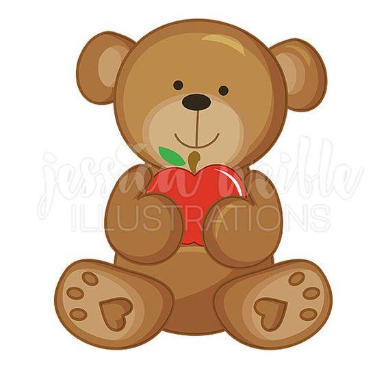 Apple clipart bear Clip • art Bear Clipart