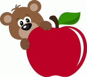 Apple clipart bear Drawings Pinterest on Food ✿