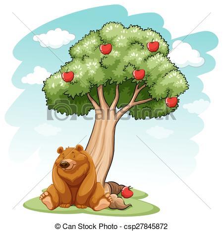 Apple clipart bear Csp27845872 the tree under Bear