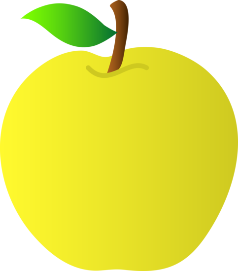 Bright clipart yellow thing Clipart Apple Yellow Apple Clipart