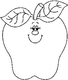 Apple clipart blackand white Black johnny and apple clipart