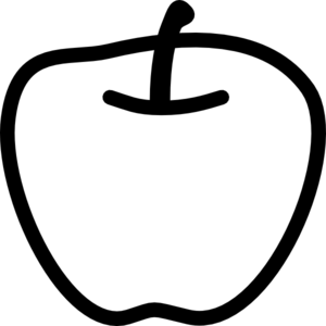 Apple clipart blackand white White Images Clipart Black And