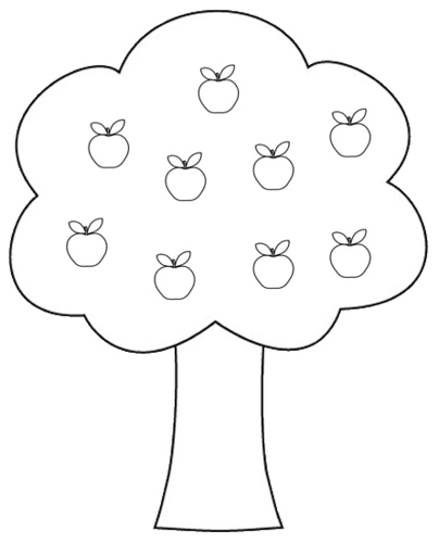 Apple clipart blackand white White 06 in Apple And