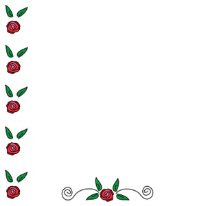 Red Rose clipart rose border #4