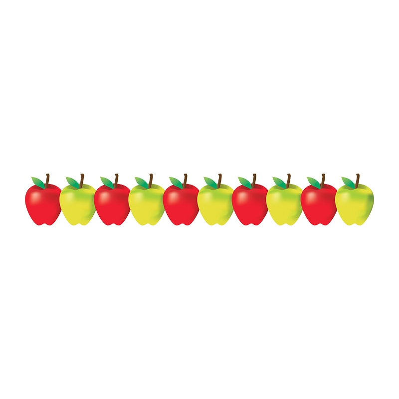 Apple clipart boarder With Art Classroom Accents Green