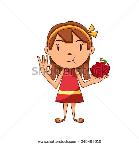 Apple clipart boy with  child apple a clipart
