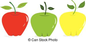 Colouful clipart apple #14