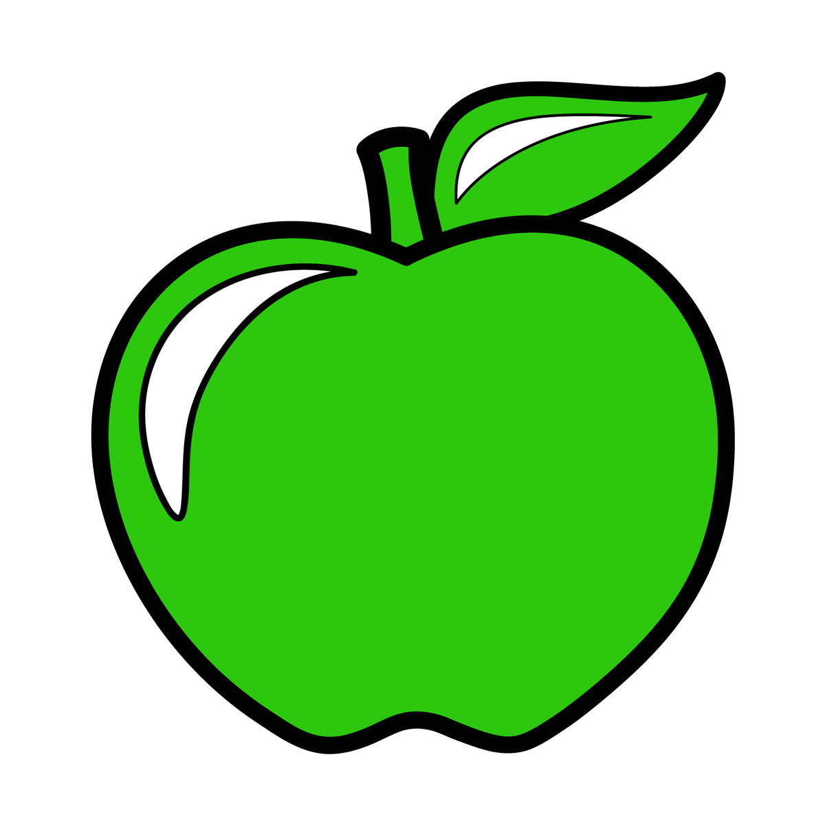Colouful clipart apple #13