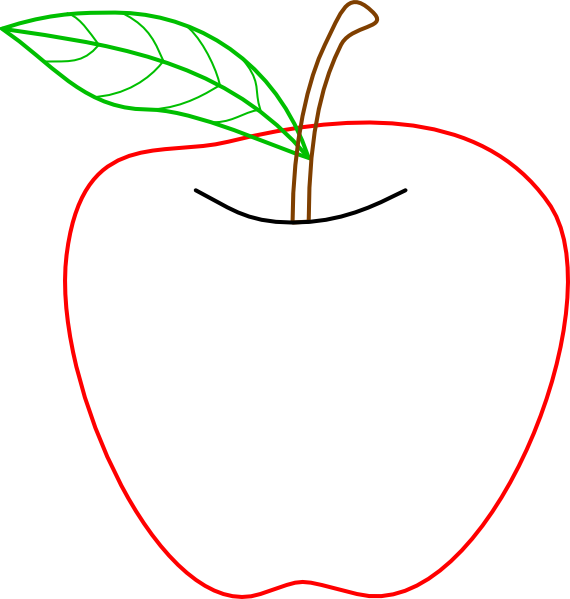 Colouful clipart apple #15