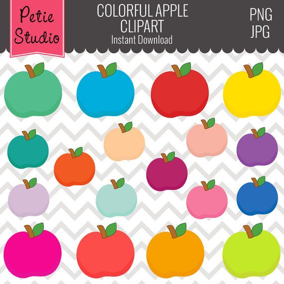 Apple clipart colorful Objects104 Colorful and Teacher Clipart